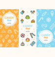 sweets and bakery candy banner flyer vertical set vector image vector image