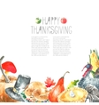 Thanksgiving Day set vector image vector image