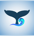 the tail of the humpback whale logo vector image vector image