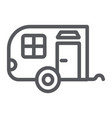 trailer line icon car and travel vehicle sign vector image vector image