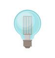 transparent light bulb in shape of globe vector image vector image
