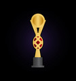 trophy cup graphic template vector image vector image