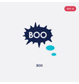two color boo icon from halloween concept vector image vector image