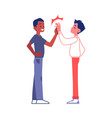 two friends or business partners high five vector image