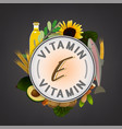 vitamin stamp banner vector image