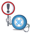 with sign gxshares coin character cartoon vector image vector image