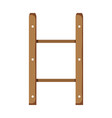 wooden shelf isolated icon vector image vector image