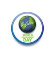 World environment day label