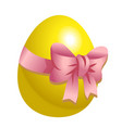 yellow easter egg with isolated on vector image vector image