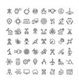 science technologies and satellite line icons vector image