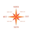 Diagram Compass Rose For Navigation Orientation vector image