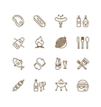 Barbecue and Food Icons Objects set vector image