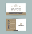 business card with logo for photographer vector image
