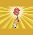 dollar hotdogs fast food and finance vector image