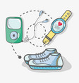 flat line concept icon fitness vector image