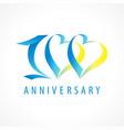 100 anniversary logo heart