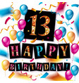 13th years anniversary celebration design vector image vector image