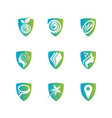 amazing shield for health care logo sign