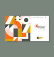 banner with bright geometric forms in trendy vector image