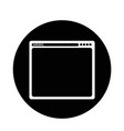 browser icon vector image