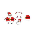 cartoon character santa claus funny animation vector image vector image