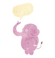 cartoon funny elephant with speech bubble vector image vector image