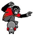 chimpanzee ride skateboard vector image vector image