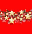 christmas seamless horizontal pattern of stars vector image vector image