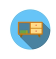 Classic tv cabinet icon flat style vector image