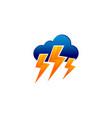 cloud lightning logo vector image