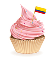 Colombian Cupcake vector image vector image