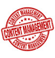 content management red grunge stamp vector image vector image