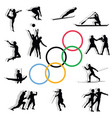 contours of olympic sports vector image
