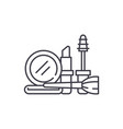 cosmetics and makeup line icon concept cosmetics vector image