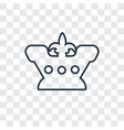 crown concept linear icon isolated on transparent vector image