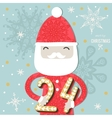 Cute Colorful Christmas Advent Calendar vector image vector image