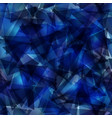 dark blue gradient triangle mosaic template vector image vector image