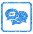 dash webinar framed stamp vector image vector image