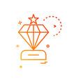 dimond icon design vector image vector image