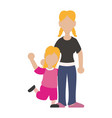 faceless woman sister vector image vector image