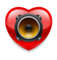 Favorite music icon vector image vector image