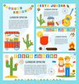 festa junina banners set vector image vector image