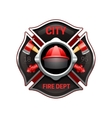 Fire Department Emblem Realistic Image vector image