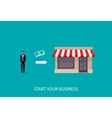 flat of an infographic business concept vector image