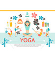 flat yoga template vector image vector image