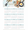 food calendar 2019 top view vector image