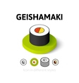 Geishamaki icon in different style vector image vector image