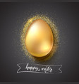 golden egg for celebration happy easter on vector image vector image