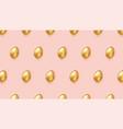 golden eggs on pink background modern pattern vector image vector image