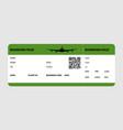 green boarding pass vector image vector image